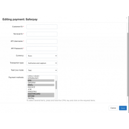 Метод оплаты SaferPay для CS-Cart
