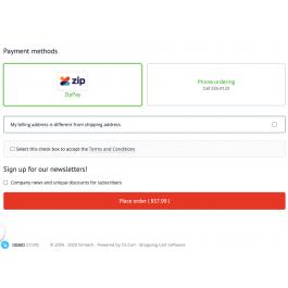 Метод оплаты ZipPay для CS-Cart