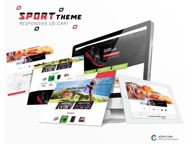 """CS-Cart Тема """"Спорт"""""""