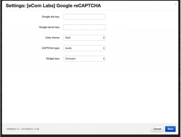 """CS-Cart Модуль """"Google reCAPTCHA"""""""